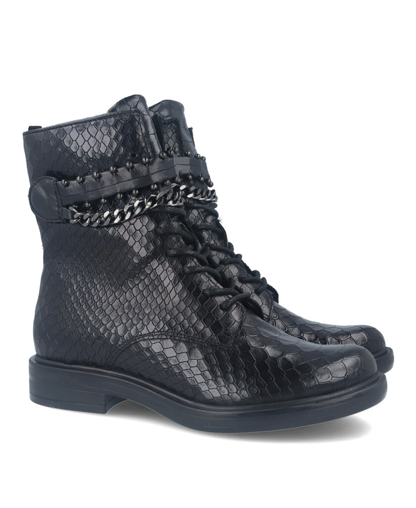 Mjus M64204 black leather military boots