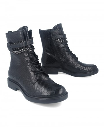 Catchalot Mjus M64204 black leather military boots