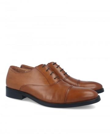 Zapatos de vestir Hobbs MB39007-01 en color cuero