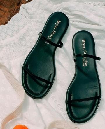 Catchalot Bryan Milan 1520 black flat sandals