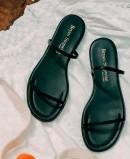 Bryan Milan 1520 black flat sandals