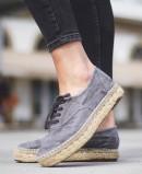 Zapatos de esparto Natural World Old Zen 687E gris