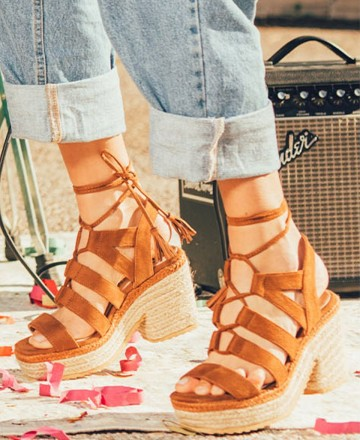 Catchalot Jute Mustang 58232 Camba leather sandals