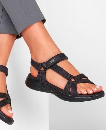 Catchalot Skechers On-The-Go 600 Brilliancy 15316 Black Flip Flops