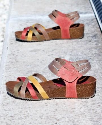 Catchalot Bio wedge sandals Inter-Bios 5338 multicolour