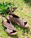 Jungla Women's Crossed Strap Wedge Sandals 6882.180.70