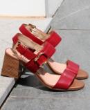 Sandalia elegante roja Repo Phil Gatiér 32606