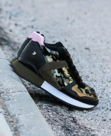Catchalot Sneakers de mujer con print de camuflaje Gioseppo Shuya 60431