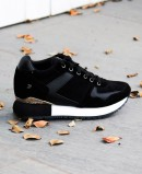 Sneakers with internal wedge for women in black Gioseppo Havelange 60833