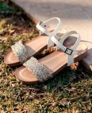 Sandalia blanca Porronet Blair 2611