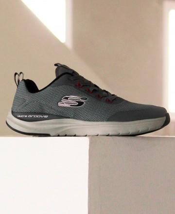 Catchalot Skechers gris de hombre Ultra Groove 232031