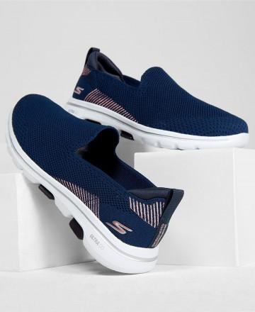 Catchalot Skechers Go Walk 5 Prized 15900 Blue Slip-On Sneakers