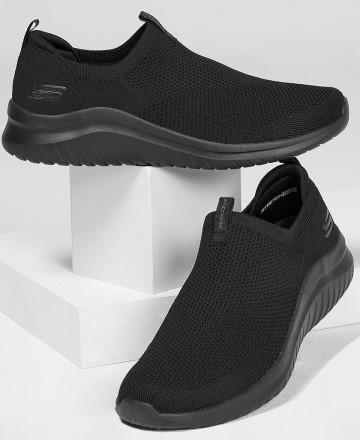 Catchalot Deportivas sin cordones Skechers Ultra Flex 2.o Kwasi en color negro 232047