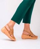 Wonders strap sandal D-9003 brown