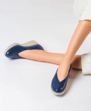 Zapato cuña Wonders C-33213 azul