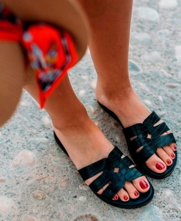 Catchalot Flat sandals with coconut skin Funny Lola 2517