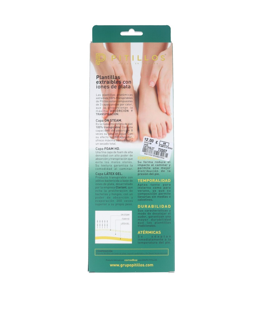 Removable insole for women's shoes Pitillos