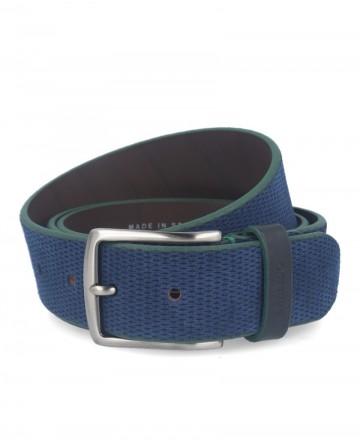 Cinturón serraje azul Bellido 950/38