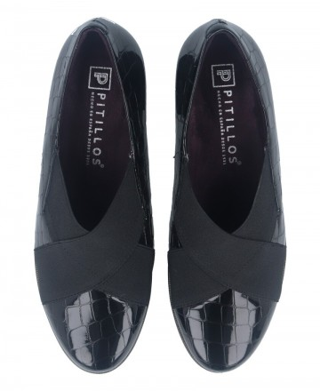 Catchalot Black loafers with heels Pitillos 6330
