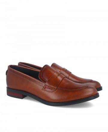 Leather color loafers Alma de Candela 507