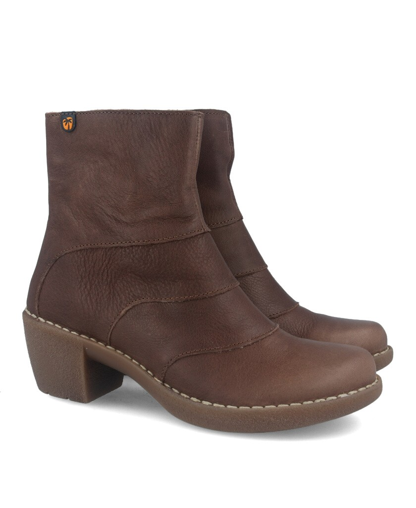 Taupe leather ankle boots Jungla 7502