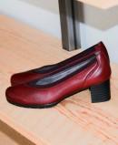 Zapatos de oficina burdeos Pitillos 6347