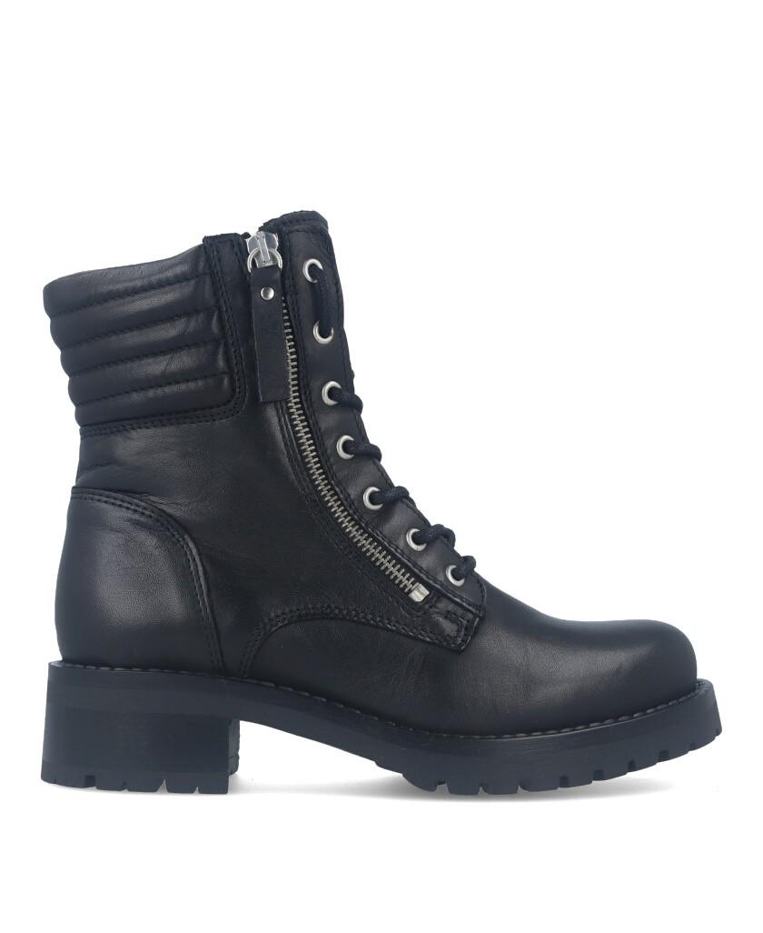 Black military style boot Traveris B-1887