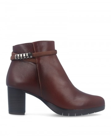 Brown casual ankle boots Patricia Miller 4081