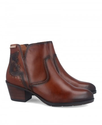 Leather cowboy style ankle boots Pikolinos Cuenca W4T-8676
