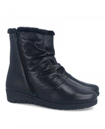 Andares black leather boots 206248