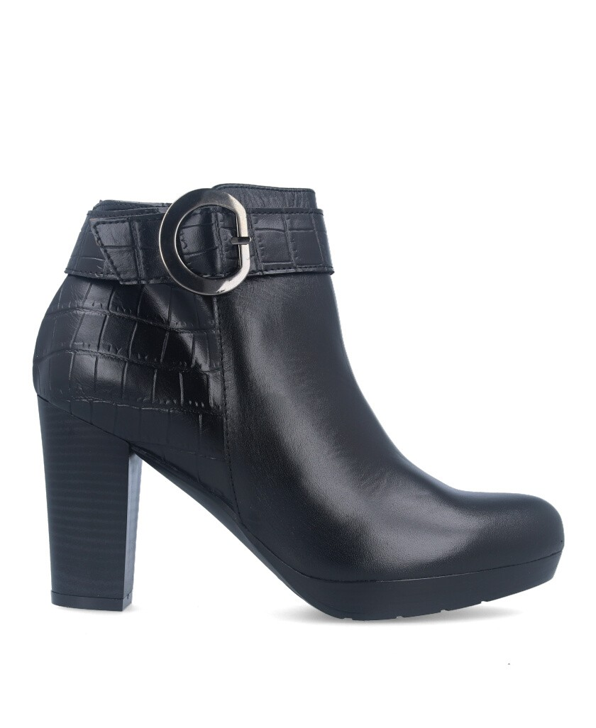 Black heeled ankle boots Patricia Miller 4056