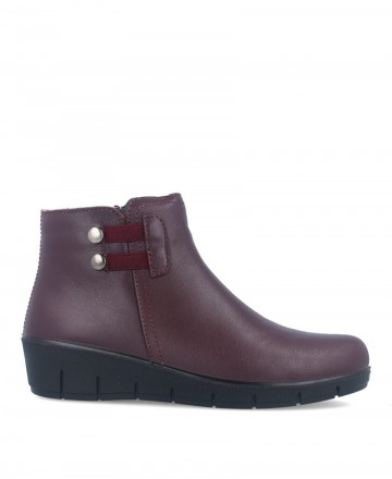 Burgundy wedge ankle boots Luisetti 17104