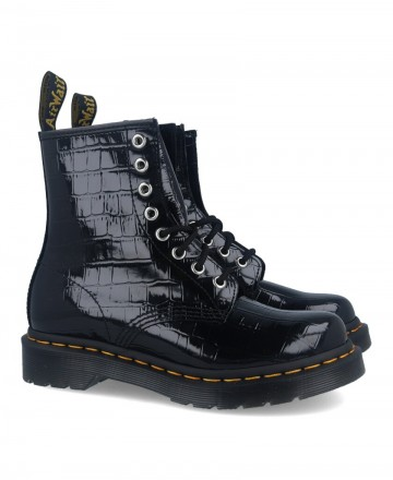 DR Martens 1460 W patent leather military boots