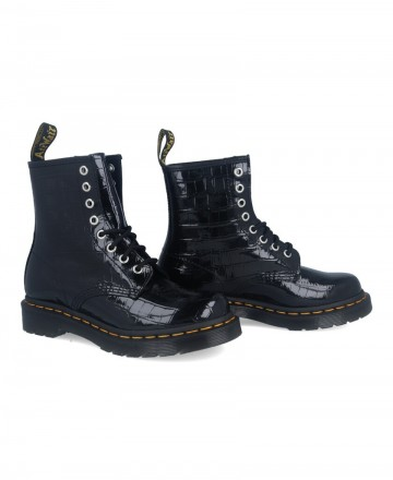 Catchalot DR Martens 1460 W patent leather military boots