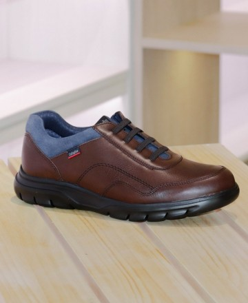 Comfortable lace-up shoes Callaghan 16204 brown