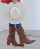 Wide heel cowboy boots Tambi Bruma