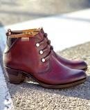 Burgundy heeled booties Pikolinos Rotterdam 902-8746