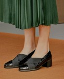 Black loafers with heels Pitillos 6330