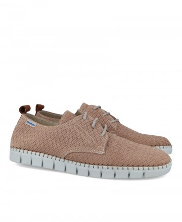 Men's leather shoes with braided effect Himalaya 2572