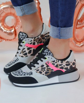 Catchalot Sneaker animal print Gioseppo Goshen 62589