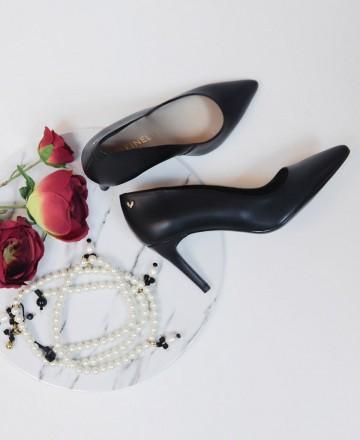 Catchalot Martinelli Thelma 1489-3366T black court shoe