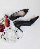 Zapato de salón negro Martinelli Thelma 1489-3366T