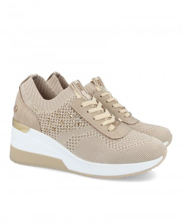 Beige women's sneakers XTI 42593