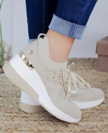 Catchalot Sneakers mujer beige XTI 42593