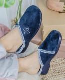 Zapatillas de casa cómodas Garzon 3305.247 azul marino