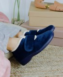 Garzon 3895.247 navy blue winter house slippers