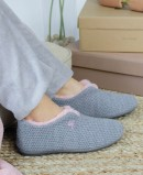 Garzon 5821.291 gray closed house flat slippers