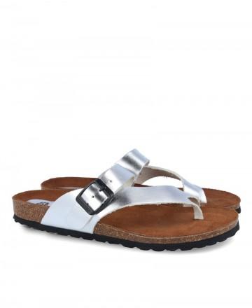 Silver Inter-Bios 7119 slave type sandal