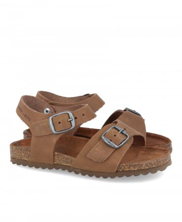 Leather sandal with Inter-Bios 7148N buckles