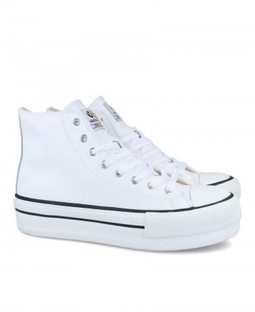 Victoria zapatillas plataforma 1061107 botín vegan blanco